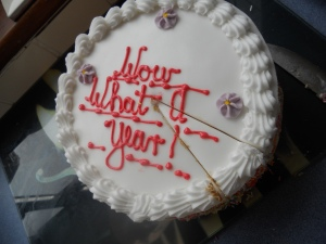The cake we had on our 1st anniversary.
